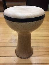 "15"" TALL & 9.5 DIAMETER CERAMIC PROFESSIONAL DOUMBEK DARBUKA DRUM WITH GOAT SKIN"
