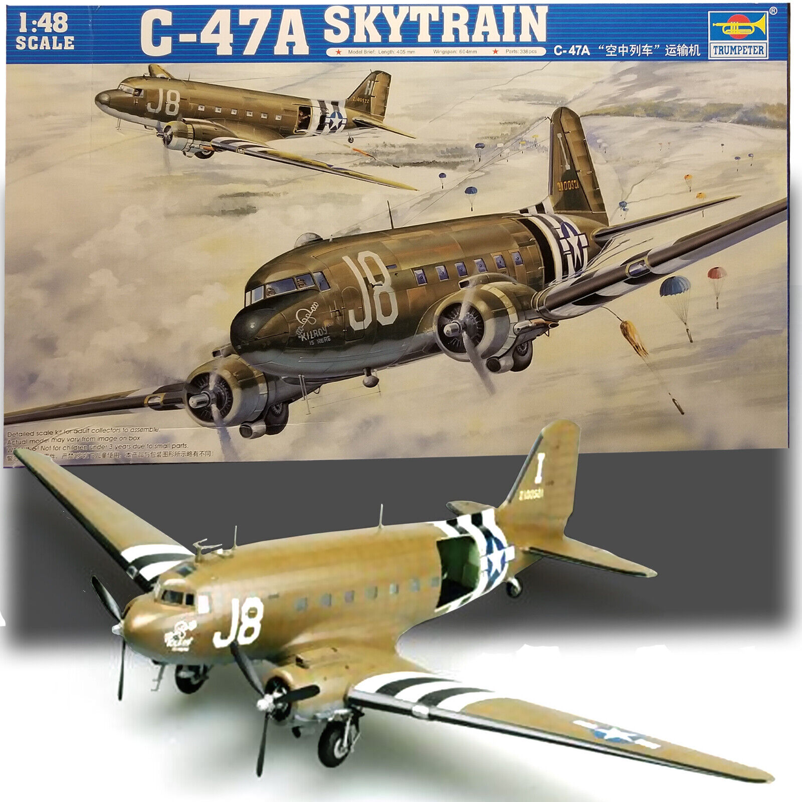 TRUMPETER 1 48 C-47A SKYTRAIN  KIT 02828