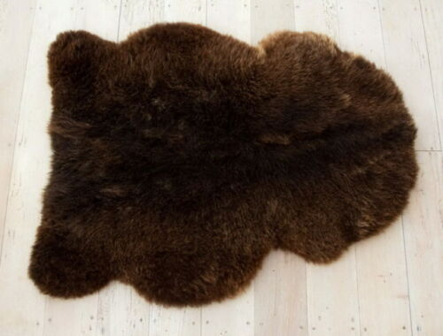 Sheepskin Rug Genuine Brown Sheep Fur Australian Merino Sheep Fur Leather 2x3 ft