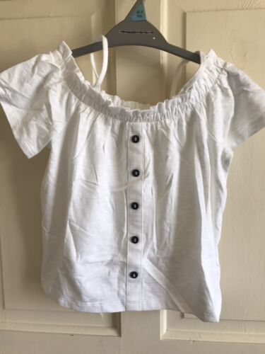 Age 5 Years White BNWOT Next Off Shoulder Summer Top Girls