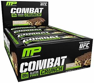 Combat-Crunch-Protein-Bars-MusclePharm-12-Bars-Choose-Flavor-FREE-SHIPPING