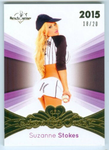 "SUZANNE STOKES ""BASE CARD #1820"" BENCHWARMER SIGNATURE SERIES 2015"