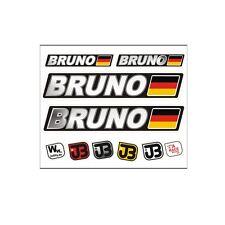 BRUNO Auto Fahrrad Motorrad Kart Helm Fahrername Aufkleber Sticker Flagge
