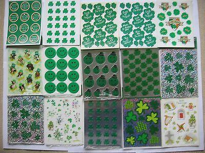 NIP Vtg Hallmark Stickers St Patricks Day Clovers Flowers Irish Shamrocks Parade