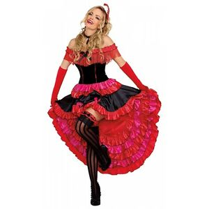 image is loading saloon girl costume adult can can dancer halloween - Can Can Dancer Halloween Costume