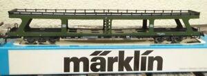 Maerklin-4084-H0-Reisezug-Autotransportwagen-DDm-915-gruen-der-DB-Epoche-4-5