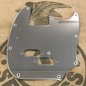 Details about Used WD Mustang Bass Guitar Custom Pickguard Mirrored Finish