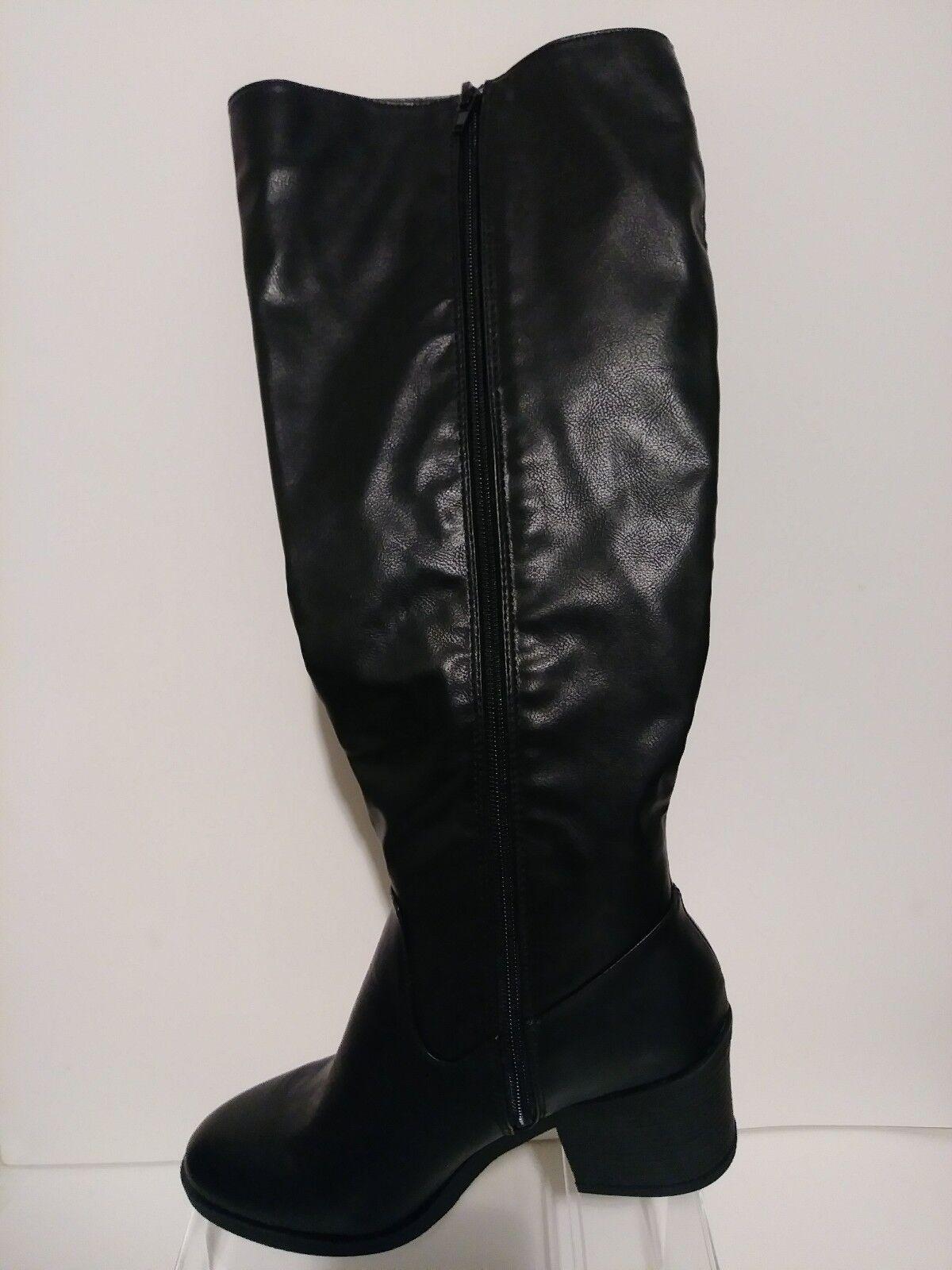 Mujer botas Hasta Hasta Hasta La Rodilla Negro Talla 11 13585d