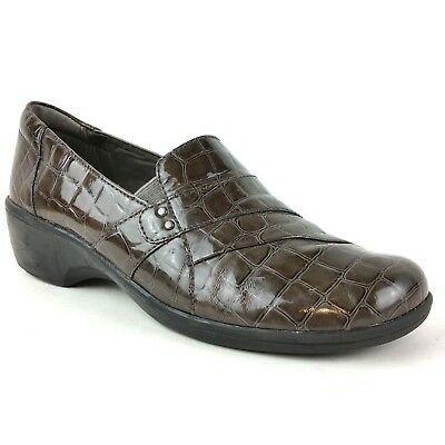 Clarks Women's Shoes Size 8m Bendables Slip On Loafers Brown Faux Snake Skin A Great Variety Of Models Women's Shoes
