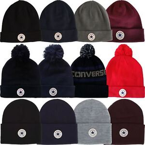 029d75c6 Image is loading Converse-Beanie-Bobble-Hats-All-Star-Classic-Knitted-