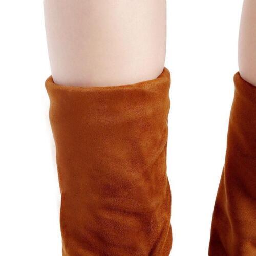 Bottes femme plates cuissardes au-dessus du genou Casual Hiver Chaussures Taille La
