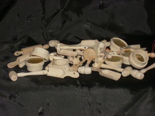 Puppenstuben Küchengeräte 10 Teile Holz
