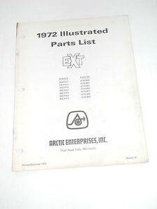 Arctic Cat 1972 Ext Parts List Manual 250 292 340 400 440 650 Fa 2