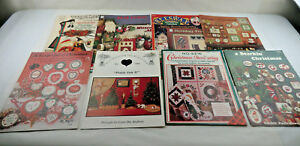 Christmas-Craft-DIY-Gifts-Pattern-Instruction-Books-LOT-of-11-Vintage