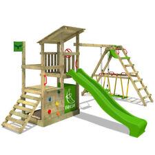 FATMOOSE Spielturm Kletterturm FruityForest Fun XXL Surf - Holz Garten Schaukel