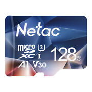 Netac Micro SD Card 128GB + Adapter 100MB/S Memory Card TF Card for Phone/Camera