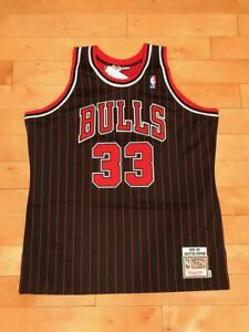 MITCHELL AND NESS SCOTTIE PIPPEN CHICAGO BULLS AUTHENTIC GAME JERSEY SZ XL-2XL