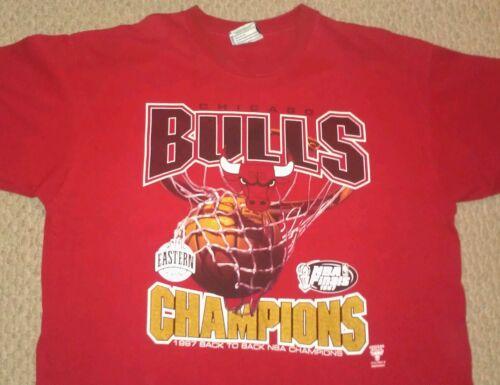 Chicago Bulls 1997 Back to Back Champs Shirt Mens
