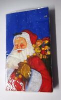 "Amscan ""Santa's Visit""  Paper Guest Towels & Buffet Napkins FREE SHIPPING"