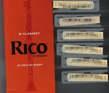 10 POPULAIRE Bb CLARINET REEDS SIZE 2 FROM FLOWPACK #2