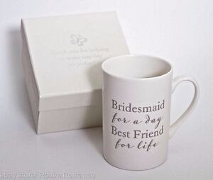 Image Is Loading Bridesmaid Gift Keepsake Cup Mug Thank You Present