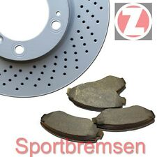 """Zimmermann Sportbremsscheiben + Bremsbeläge hinten VW Transporter T4 mit 15"""" Fel"""
