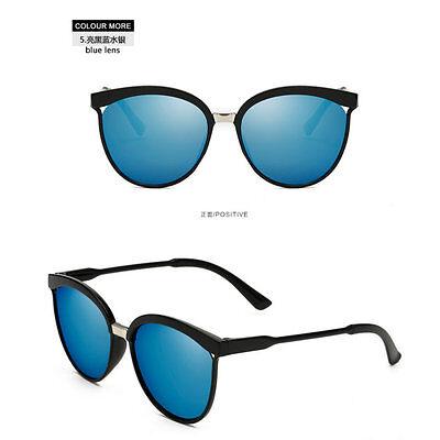 Women's Vintage Retro Mirror Designer Flat Lens Sunglasses Eye Glasses Eyewear