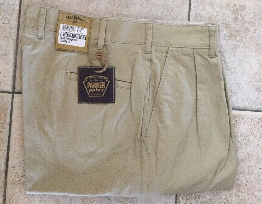 NWT- Bills Khakis PP-KHIT Parker PLEATED KHAKI Island Twill SZ-34 MSRP