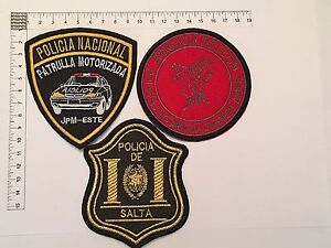 2 ORIGINAL POLICE SWAT RADIO PATROL PATCHES COLLECTION PATCH ARGENTINA 80s 90s