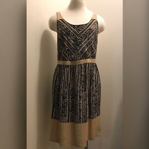 Ann-Taylor-Loft-Knee-Length-Sleeveless-Dress-Size-6