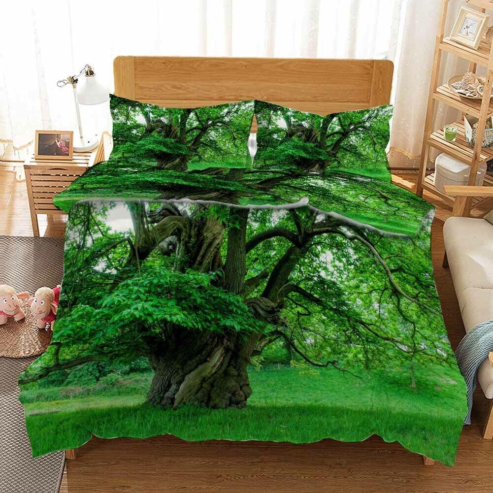 Big Grün Roots 3D Printing Duvet Quilt Doona Covers Pillow Case Bedding Sets