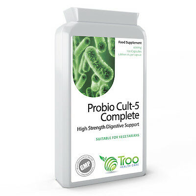 Probiotics Complete 5 Billion CFU 120 Capsules Targeted Release with FOS