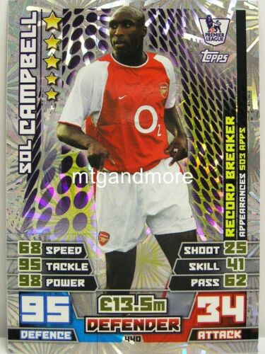 2014 Sol Campbell 2015 Epl Match Attax Record Breaker 440