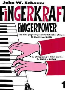 Klavier-Noten-SCHAUM-Fingerkraft-Fingerpower-1-sehr-leicht-Anfaenger-BOE-3570