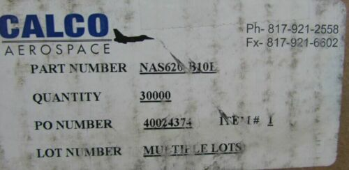 "100 Calco Aerospace #10 Brass Flat Washers .354/"" x .195/"" x .032/"" NAS620-B10L M5"