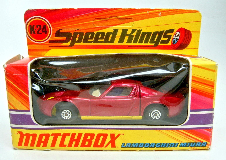 MATCHBOX SUPERKING k-24a LAMBORGHINI MIURA violetmetallic jaune BPL. Dans Boîte