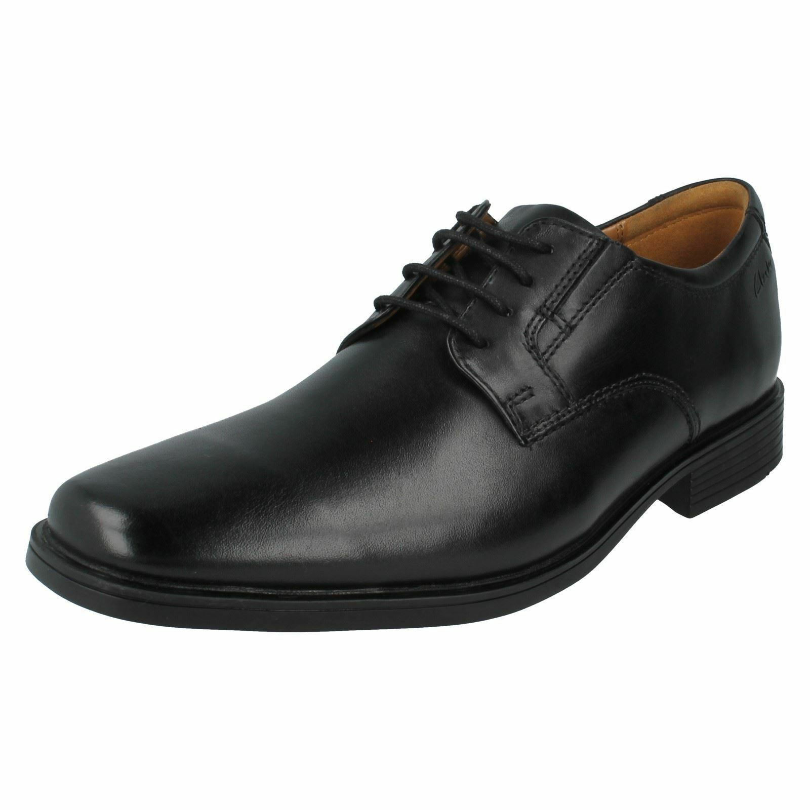 Clarks Tilden Plain Hommes Noir À Lacets Chaussures G Montage (R38A) (Kett)