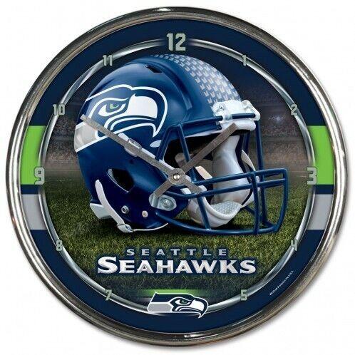 Seattle Seahawks NFL Chrome Orologio da parete