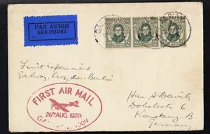IRELAND FIST AIR MAIL COVER TO GERMANY 1929 YEAR