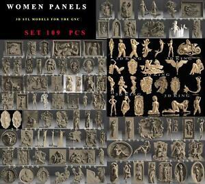 83-Pcs-3D-STL-Models-WOMEN-SET-for-CNC-Router-Aspire-Carving-Engraver-ASPIRE