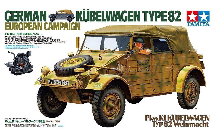 Tamiya 36205 - 1 16 WWII Dt. Kübelwagen Typ 82 Europa Feldzug - Neu  | Große Klassifizierung