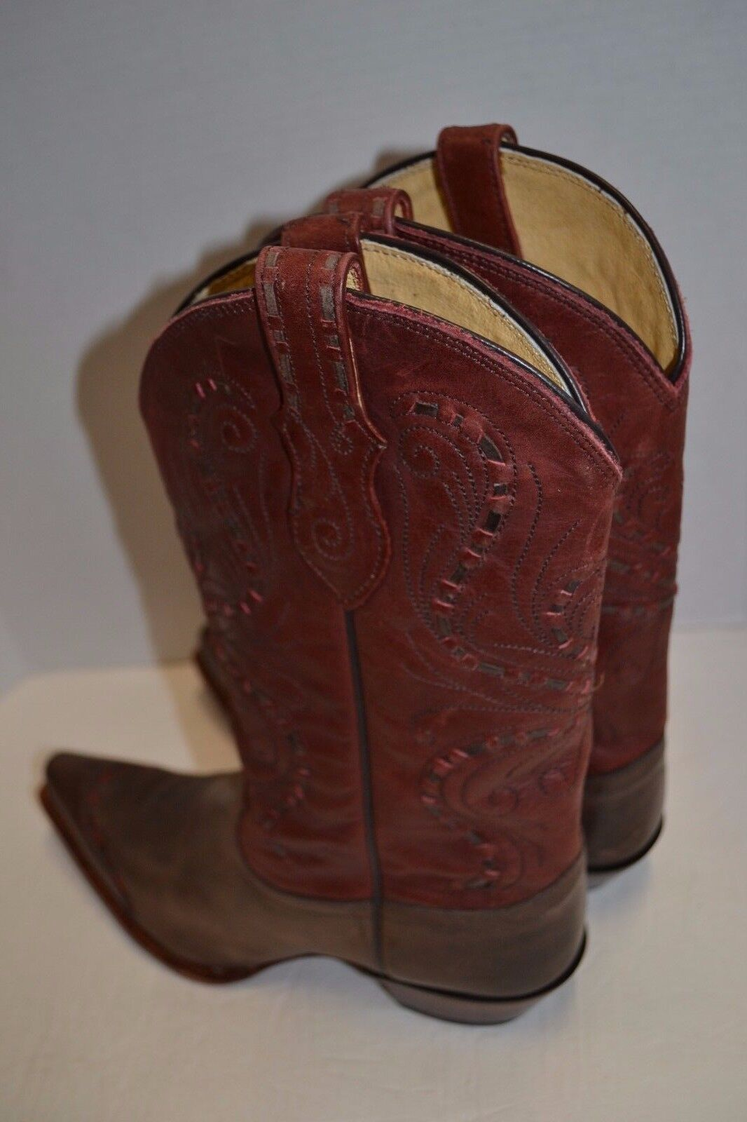 Womens Tony Lama VF3021 Vanquero Moka Sienna Sienna Sienna WINGTIP COWBOY WESTERN BOOTS 9.5 B 3ff628