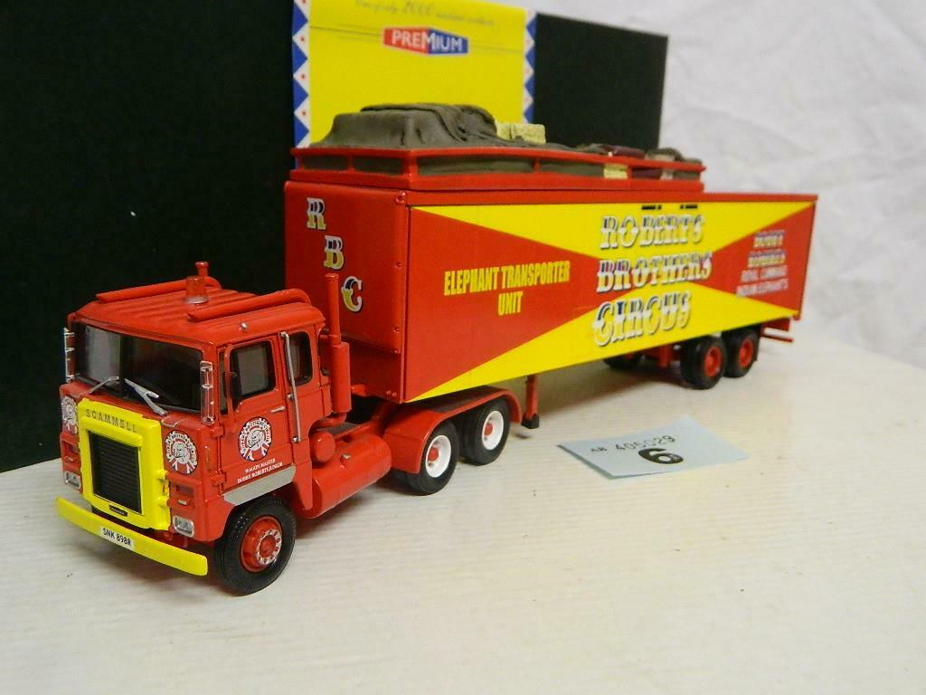 Corgi 1 50 Scammell Crusader With Box Trailer Robert Bros Box CC12606
