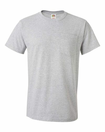 Fruit of the Loom HD Cotton Tee Men/'s T-Shirt with Pocket 3930PR 3931P Tearaway