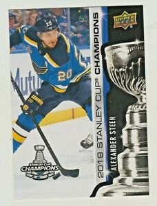 2018-19-Upper-Deck-2019-STANLEY-CUP-CHAMPIONS-BLUES-SET-15-ALEXANDER-STEEN-RARE