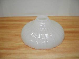 Old-Ceiling-Light-Globe-Shade-Pendant-Lamp-Ribbed-White-Milk-Glass-Art-Deco