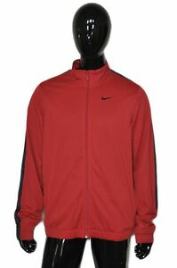 9f6759365857 NIKE Track Jacket Warmup Training Mens Large L Red Black Free ...