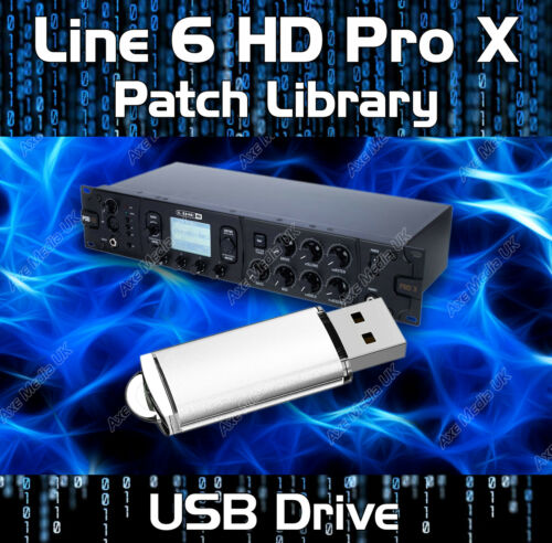 LINE 6 HD PRO X EFFECTS PEDAL PRESETS PATCH LIBRARY