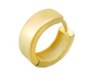 Männer SINGLE- CREOLE 585 Gold  Einzelohrring ca.15x6mm (12)