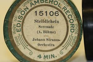 EDISON Ambererol Walze 15106 Stelldichein Serenade A. Böhme J.Strauss Orchester